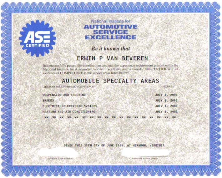 ase certification certificates printable related keywords ase certification certificates
